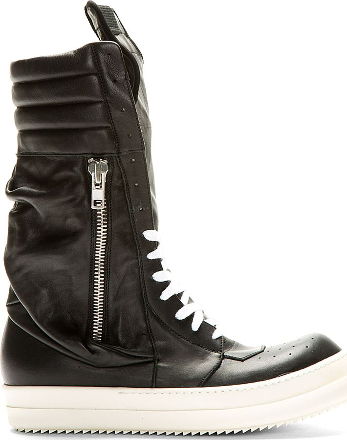 1bc019483f0 Rick Owens Black Ultra High-Top Pocketed Sneakers