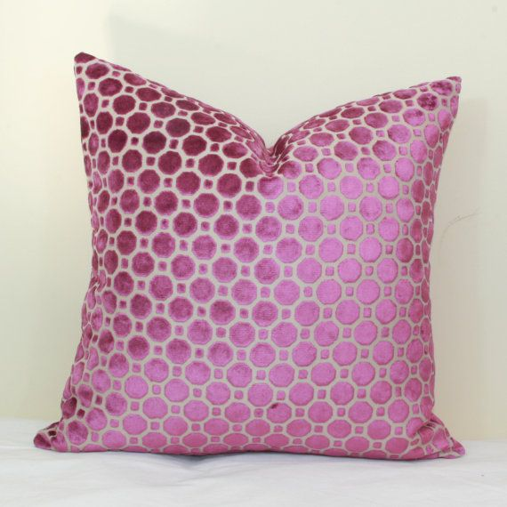 Magenta Geo Velvet Pillow Covers 40x40 40x40 By JoyWorkshoppe Impressive Mauve Decorative Pillows