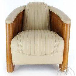 Fauteuil Club Cuir Brun La Perouse Armchair Furniture Art Deco