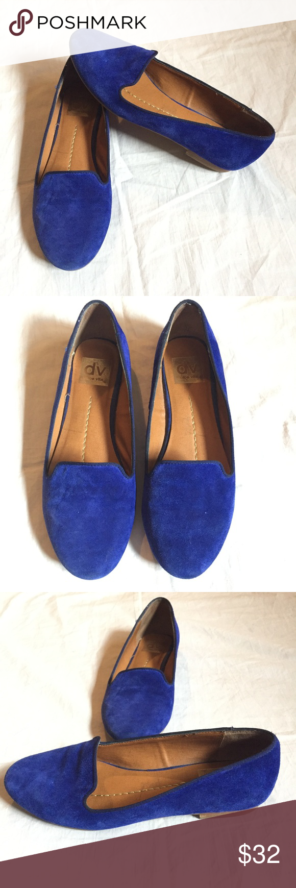 b57b12a2517 DV Blue Suede Loafers Smoking Flats Dolce Vita Blue Flats  Size  6.5  Excellent used condition