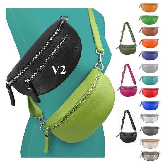 Damen Tasche Bauchtasche Hüfttasche Gürteltasche Umhängetasche Rund viele Farben