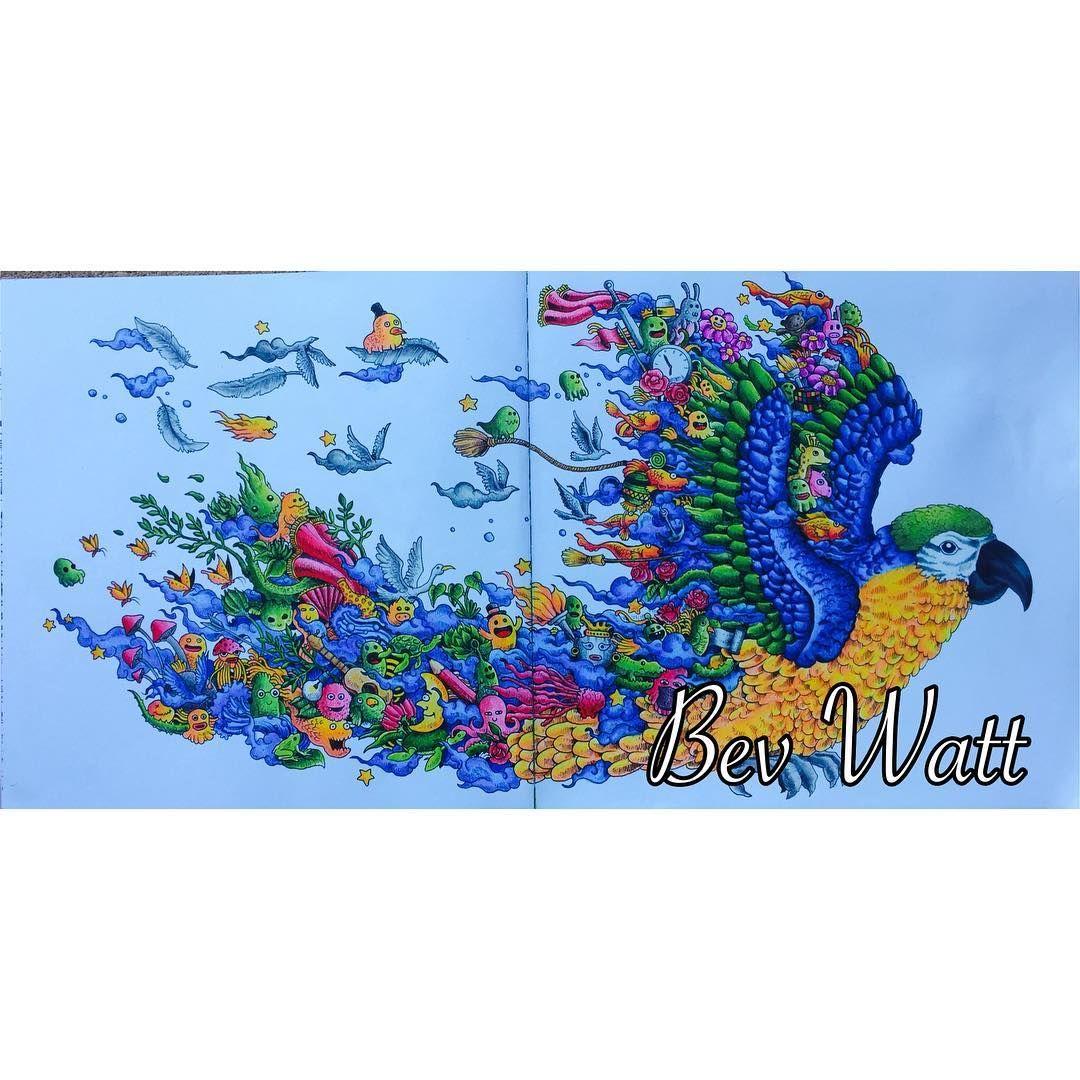 animorphiacolouringbook parrot animorphia doodlemorphia