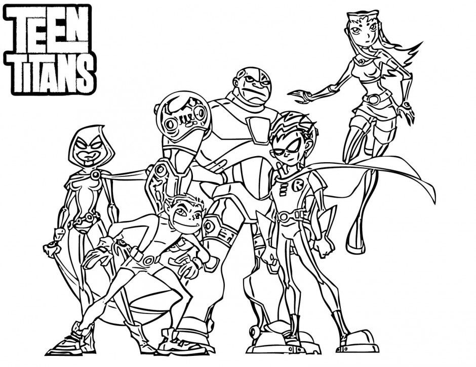teen titan coloring pages # 12