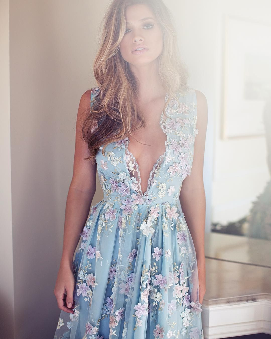 Monday Blues in the prettiest of dresses! #Lurelly #Fleurgown   Instagram: @Lurelly