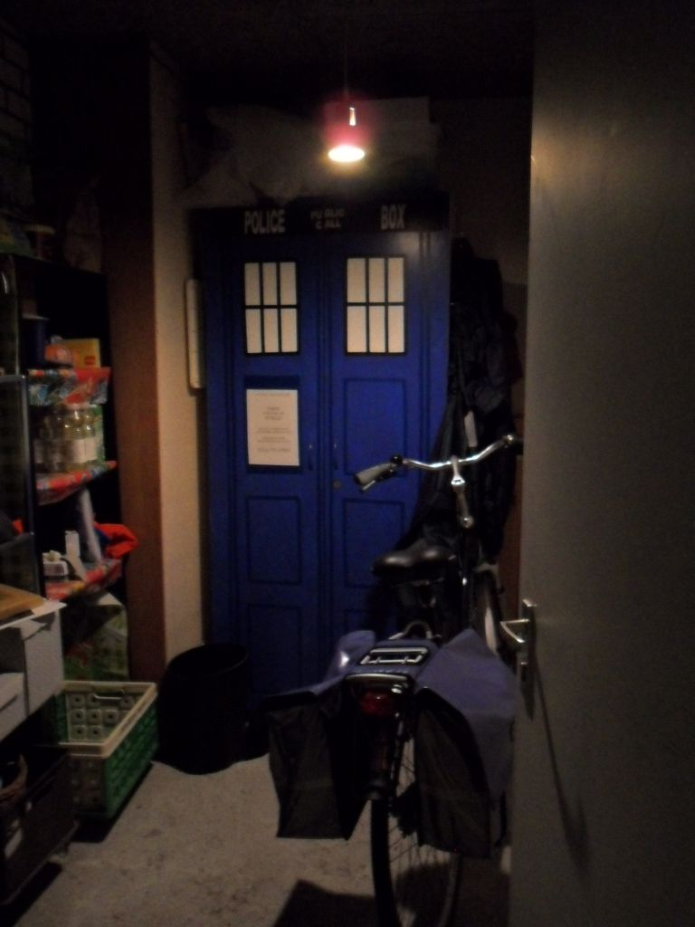 TARDIS materializing in my shed.
