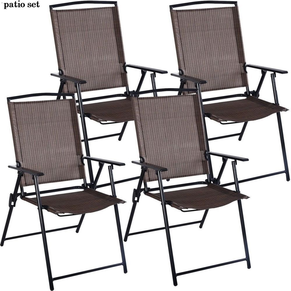 Chairs patio set of folding outdoor furniture dining lawn picnic