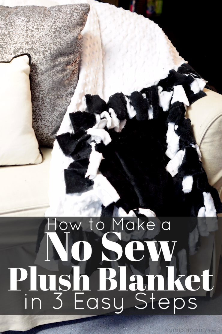 How To Make A No Sew Plush Blanket In 3 Easy Steps Video