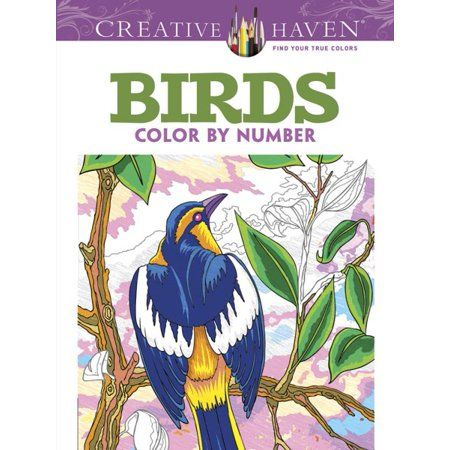 Birds Color By Number Coloring Book Products Coloring Books Color Adult Coloring Pages