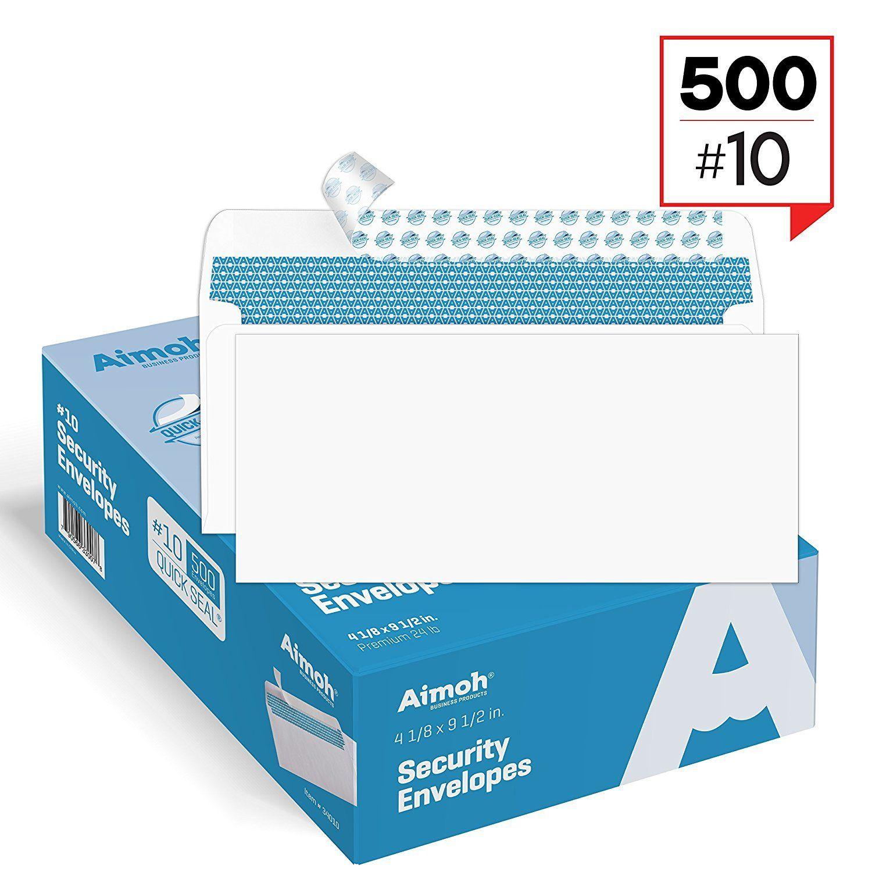 10 Security Self Seal Envelopes Windowless Design 24 Lb 500 Count 34010 Security Envelopes Handmade Envelopes Business Envelopes