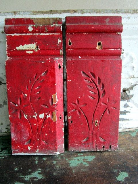 Red Carved Wood Plinth Molding Trim Carved Wheat flower Carved wood Block  Architectural Salvage by Holliezhobbiez on Etsy