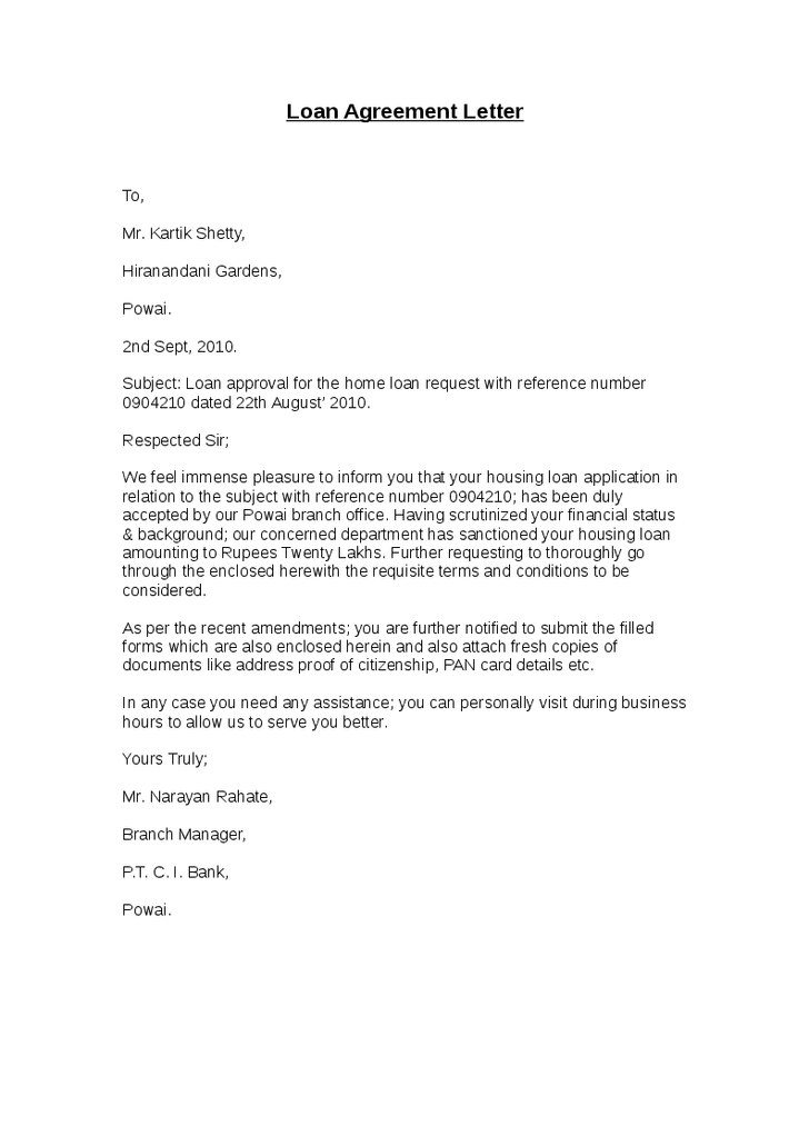 Loan Agreement Letter - Hashdoc - agreement letter | Real State in 2019 | Lettering, Letter ...