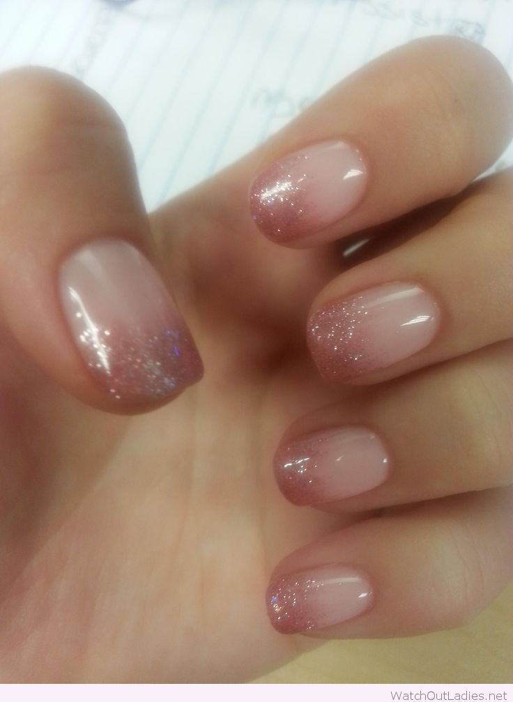 Lovely gel ombre nails | Nails | Pinterest | Ombre, Make up and Manicure