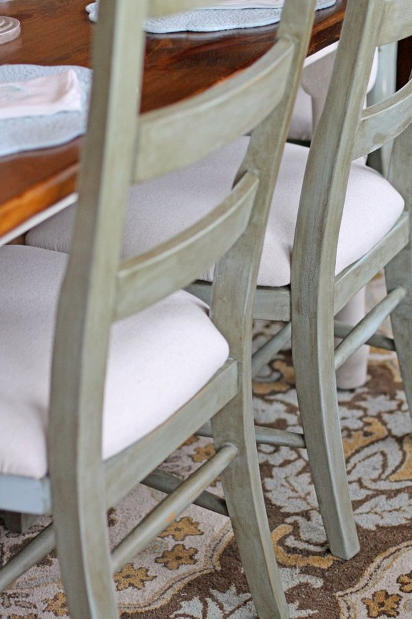 Crafty Southern Mama Added Some Depth And Character To These Plain Mesmerizing Chalk Paint Dining Room Chairs Decorating Design
