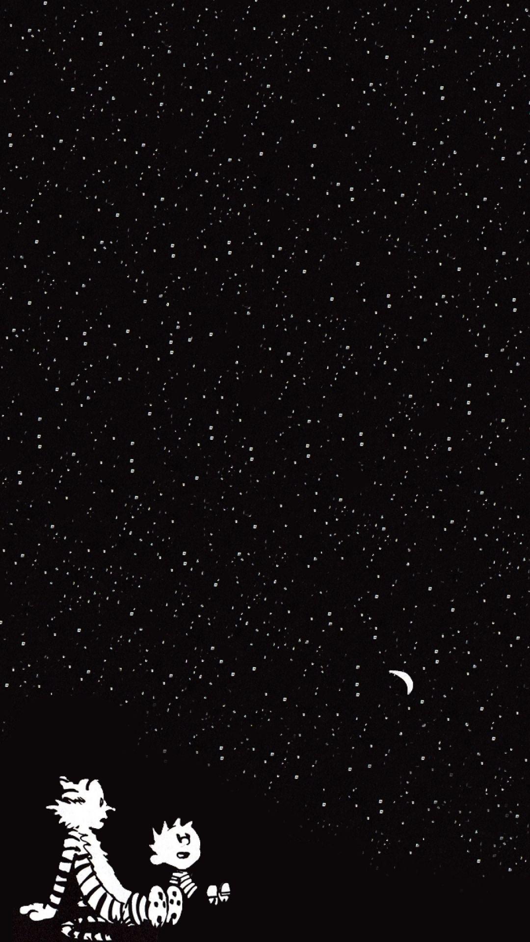 Calvin And Hobbes Stars Wallpaper Download In 2020 Starry Night Iphone Wallpaper Calvin And Hobbes Wallpaper Iphone Wallpaper Sky