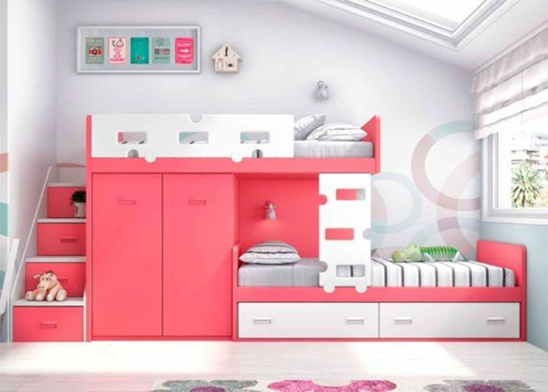 Amazing Bunk Bed Ideas For A Dream Girls And Sisters Room You Wish You Had As A Kid Part 14 With Images Girls Bunk Beds