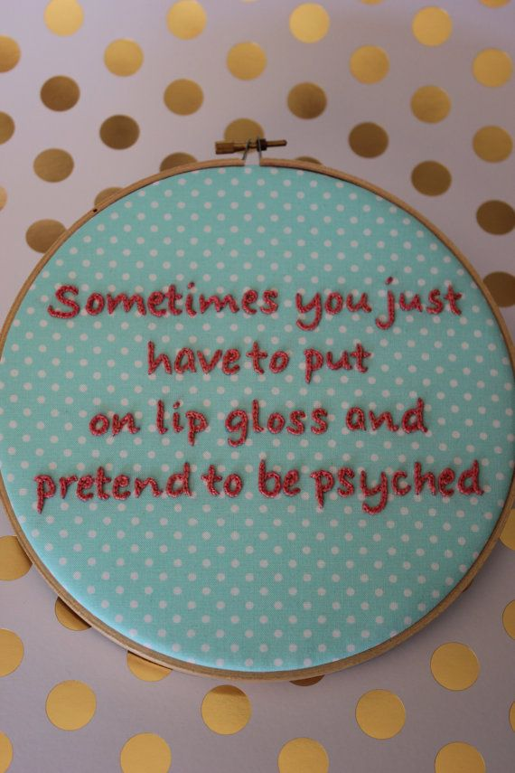 The Mindy Project Motivational Quote From Mindy Kaling Embroidery Hoop Wall Hanging Decor Decoration The Mindy Project Embroidery Hoop Wall Mindy Kaling