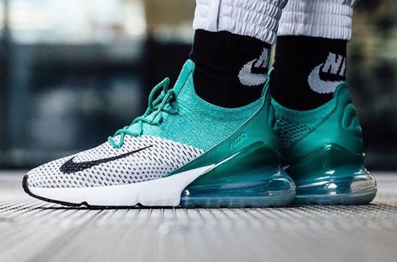 new style 44da6 cc6d9 Get Ready For The Nike WMNS Air Max 270 Flyknit Clear Emerald The Nike WMNS  Air
