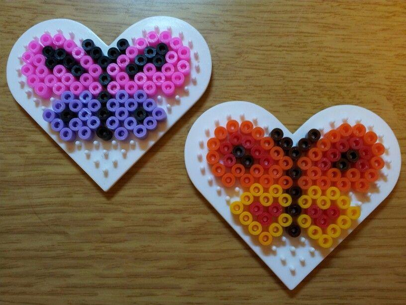 Hama bead butterflies