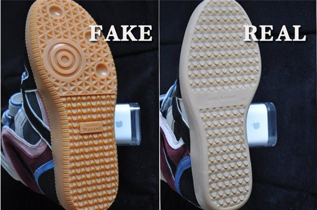 413fc14b3a2 The sole of a genuine sneaker is beige with the 'Isabel Marant' logo and