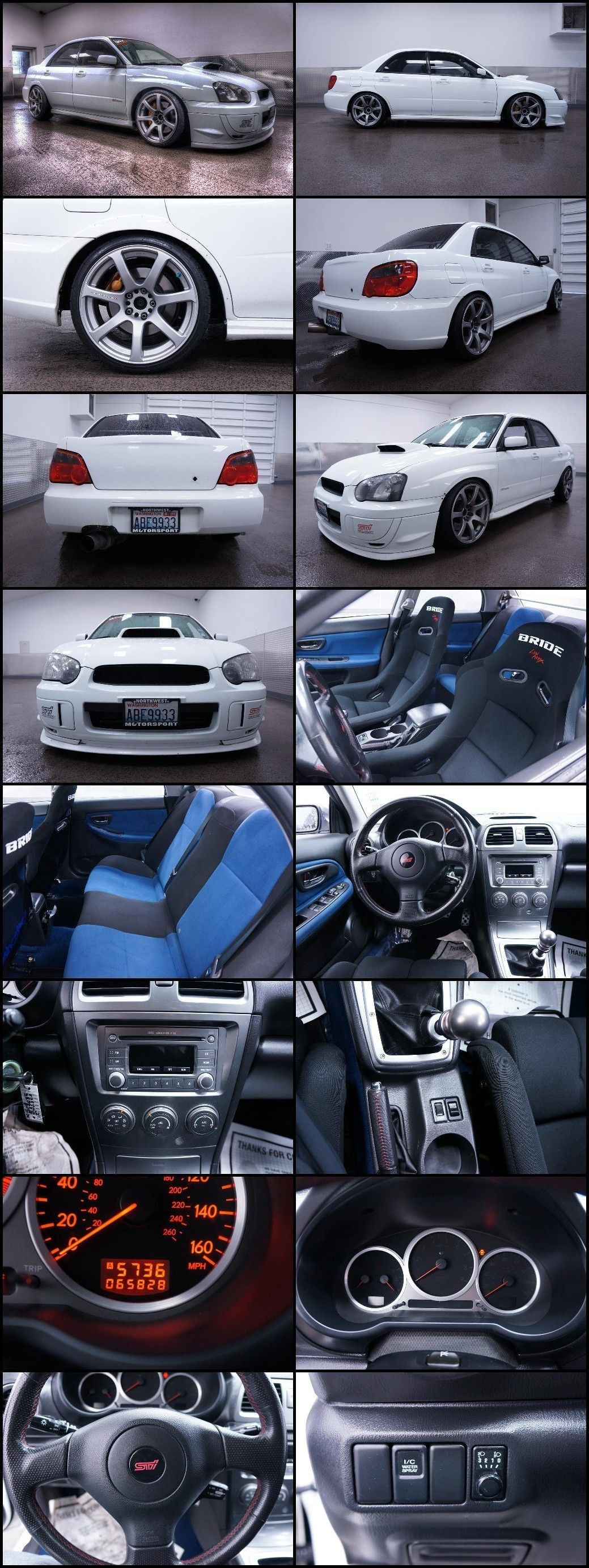 Subaru Impreza Wrx Sti Awd Turbo All Wheel Drive Sedan Fast