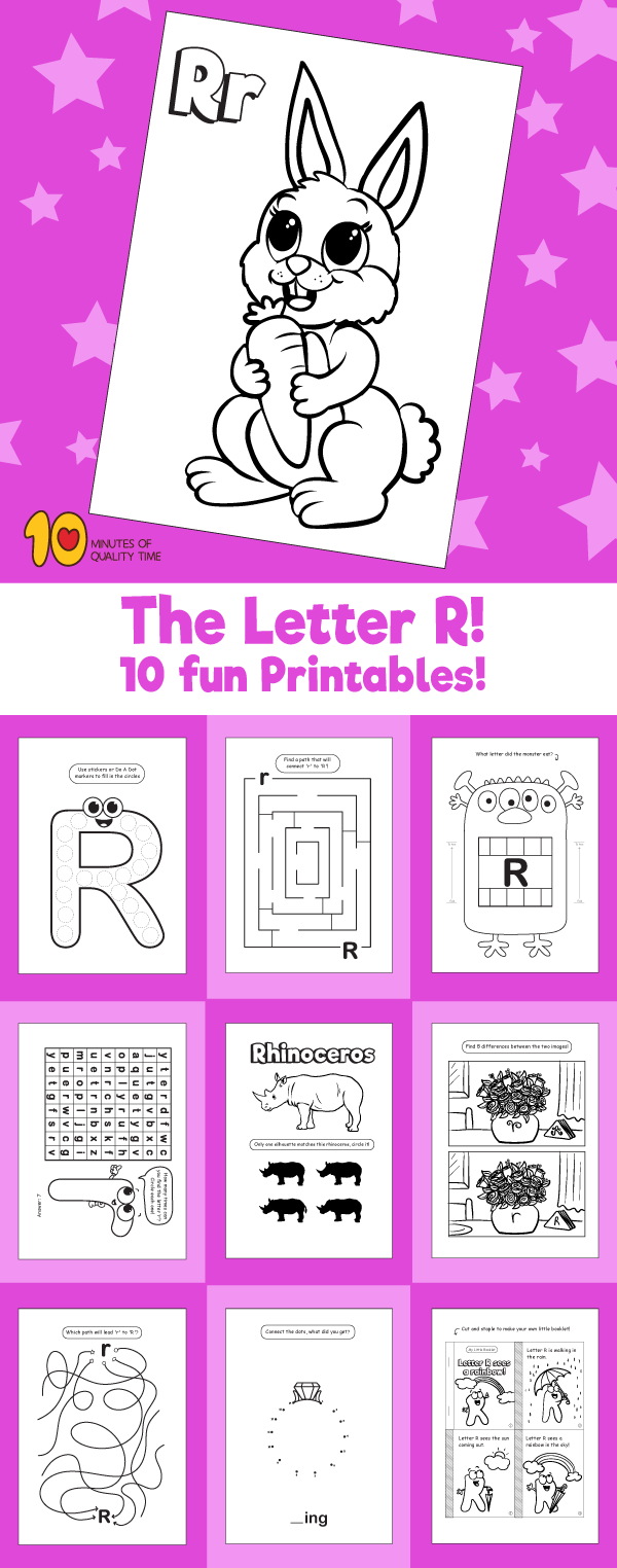 Letter R printable pack | Simple and fun activities for kids ...