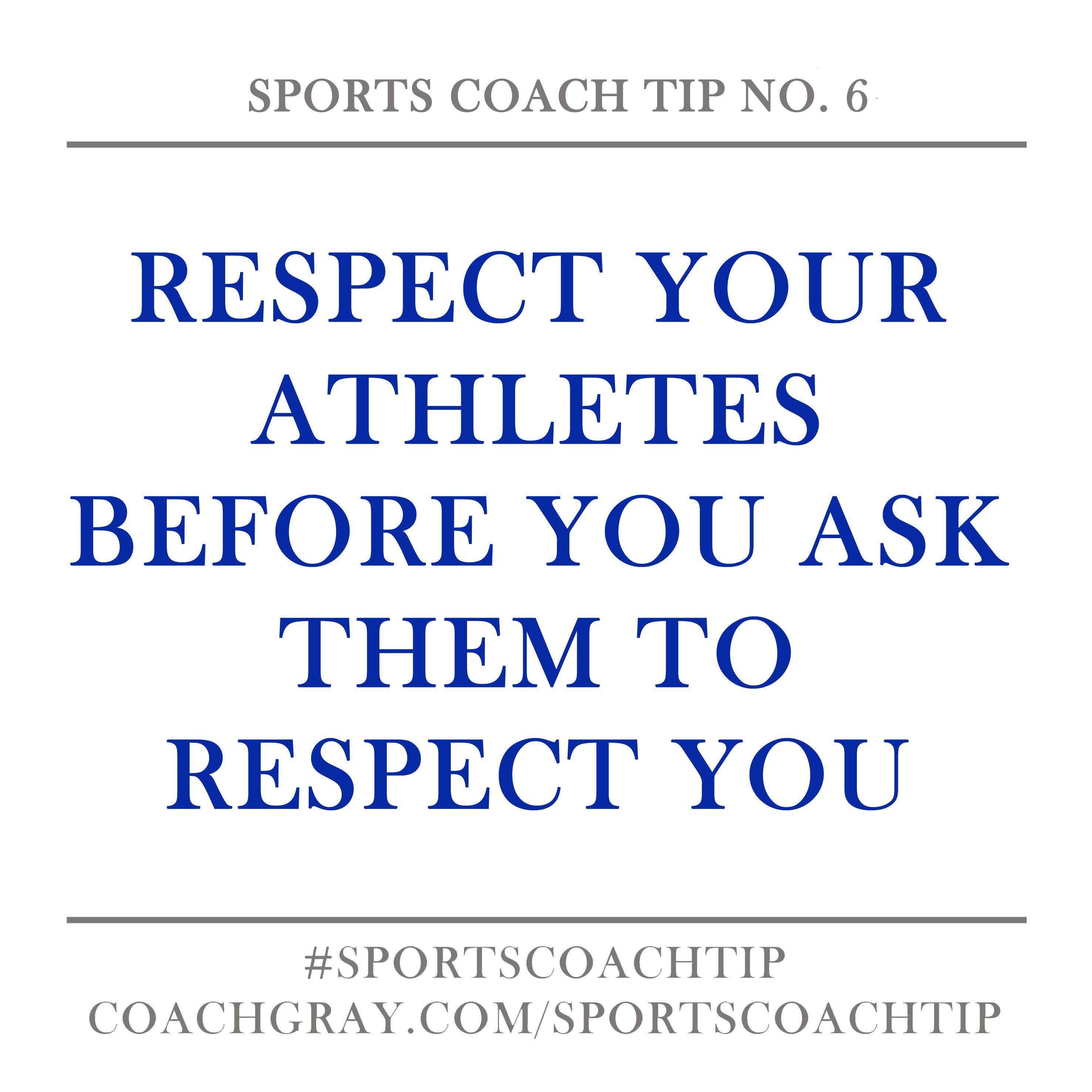 Sports Coach Tip No 6 Coach Gray Coach Quotes Sports Coach