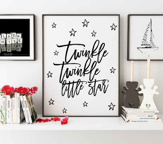 PRINTABLE ArtTwinkle Twinkle Little StarNursery Girls by TypoHouse