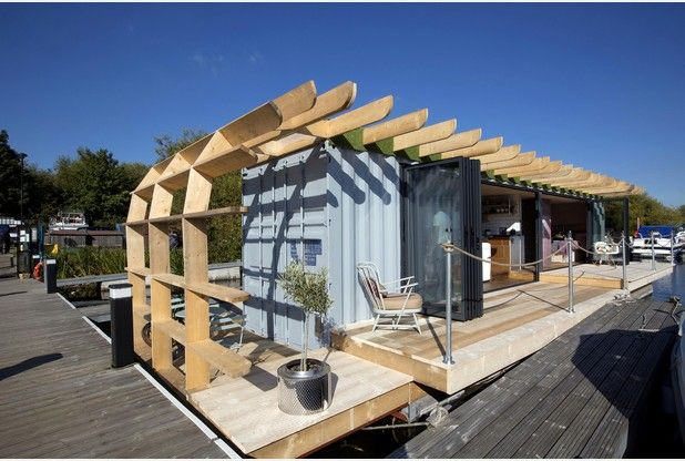 Floating Container Homes The Answer To Rocketing House Prices Http Www Gatewaycontainersales Com Building A Container Home Container House Floating House