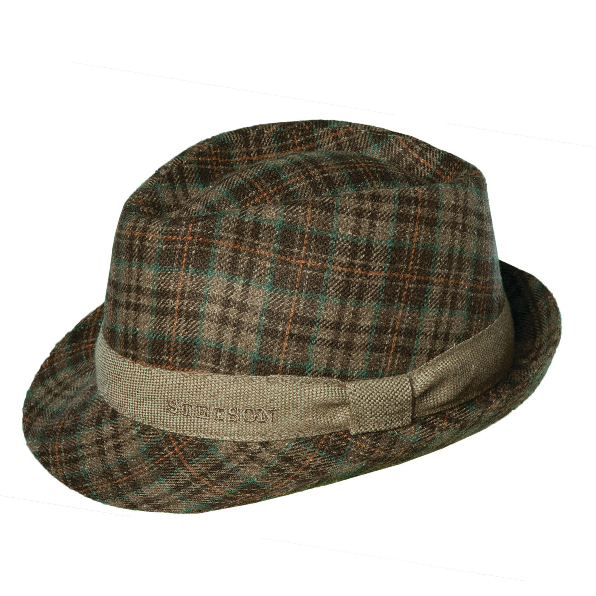 European inspired low crown fedora made in Italy. Lightweight taylor silk  hat. Linen band with