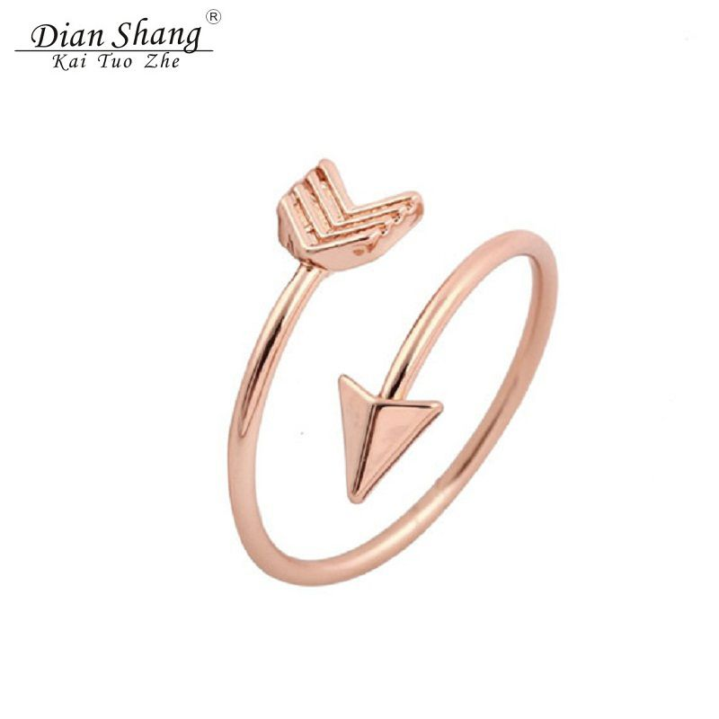 2017 Minimalist Rose Gold Anel Cupid One Direction Arrow Ring For