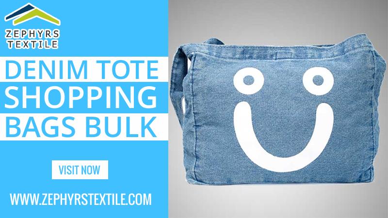 Denim Tote Shopping Bags Bulk | Printed tote bags, Cotton