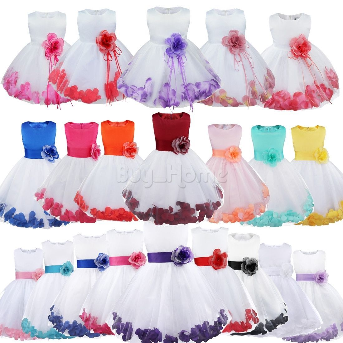 Nice flower kid girl princess party pageant bridesmaid lace ball