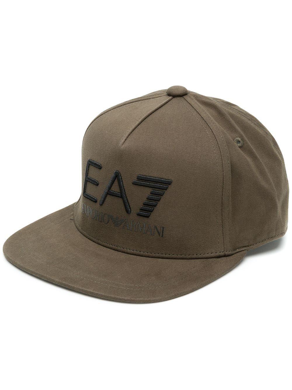 EA7 EMPORIO ARMANI EA7 EMPORIO ARMANI CONTRAST LOGO BASEBALL CAP - GREEN.   ea7emporioarmani 73368a54d117