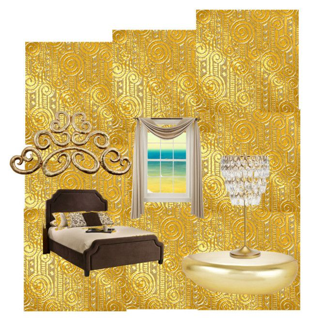 """Gold"" by maria-11-1 on Polyvore featuring interior, interiors, interior design, home, home decor, interior decorating, Parvez Taj, Liz Claiborne and PBteen"