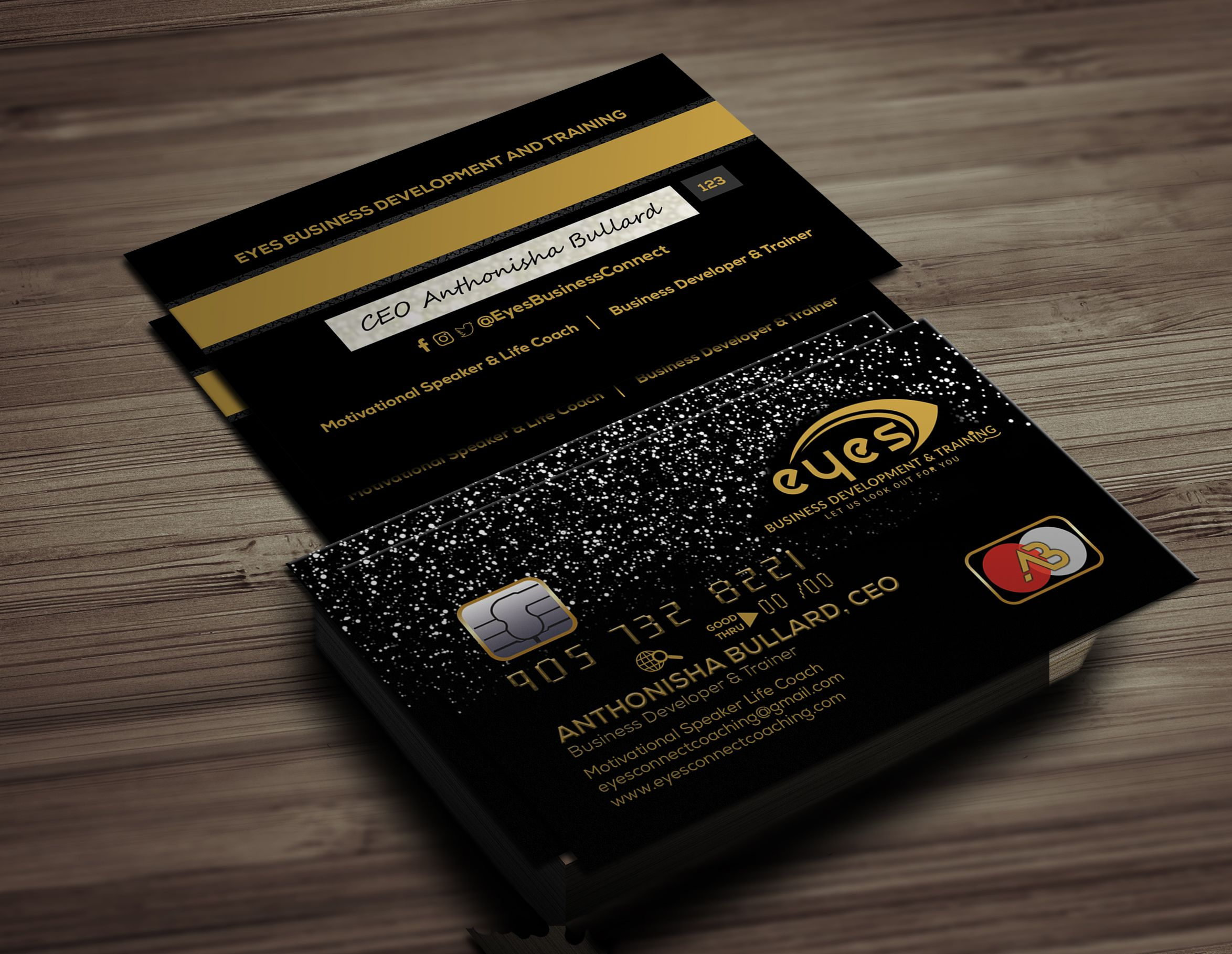 Black credit business card templates psd in 2020