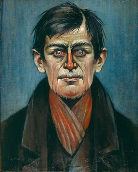 L S Lowry - Head of a Man