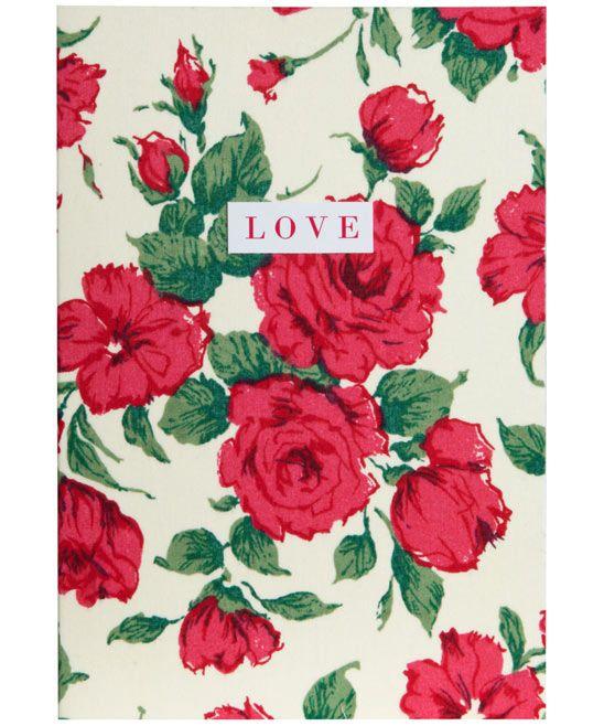Carline Liberty Print Love Card Tana Lawn