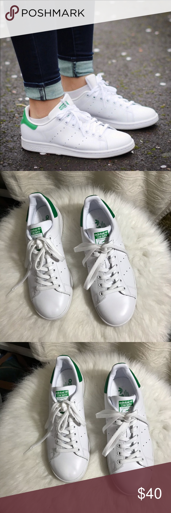 Crítico doble corto  Adidas Stan Smith Sneakers White Green | Stan smith sneakers, Adidas stan  smith sneakers, Adidas stan smith