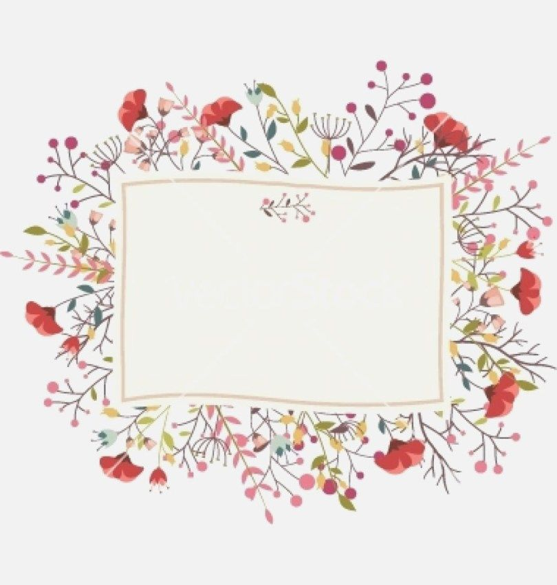 29 Best Picture Of Wedding Invitation Frame Flower Frame Retro