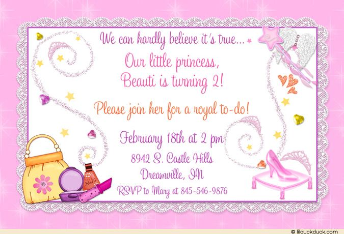 Glass slipper birthday invitation princess pampering party glass slipper birthday invitation princess pampering party stopboris Choice Image