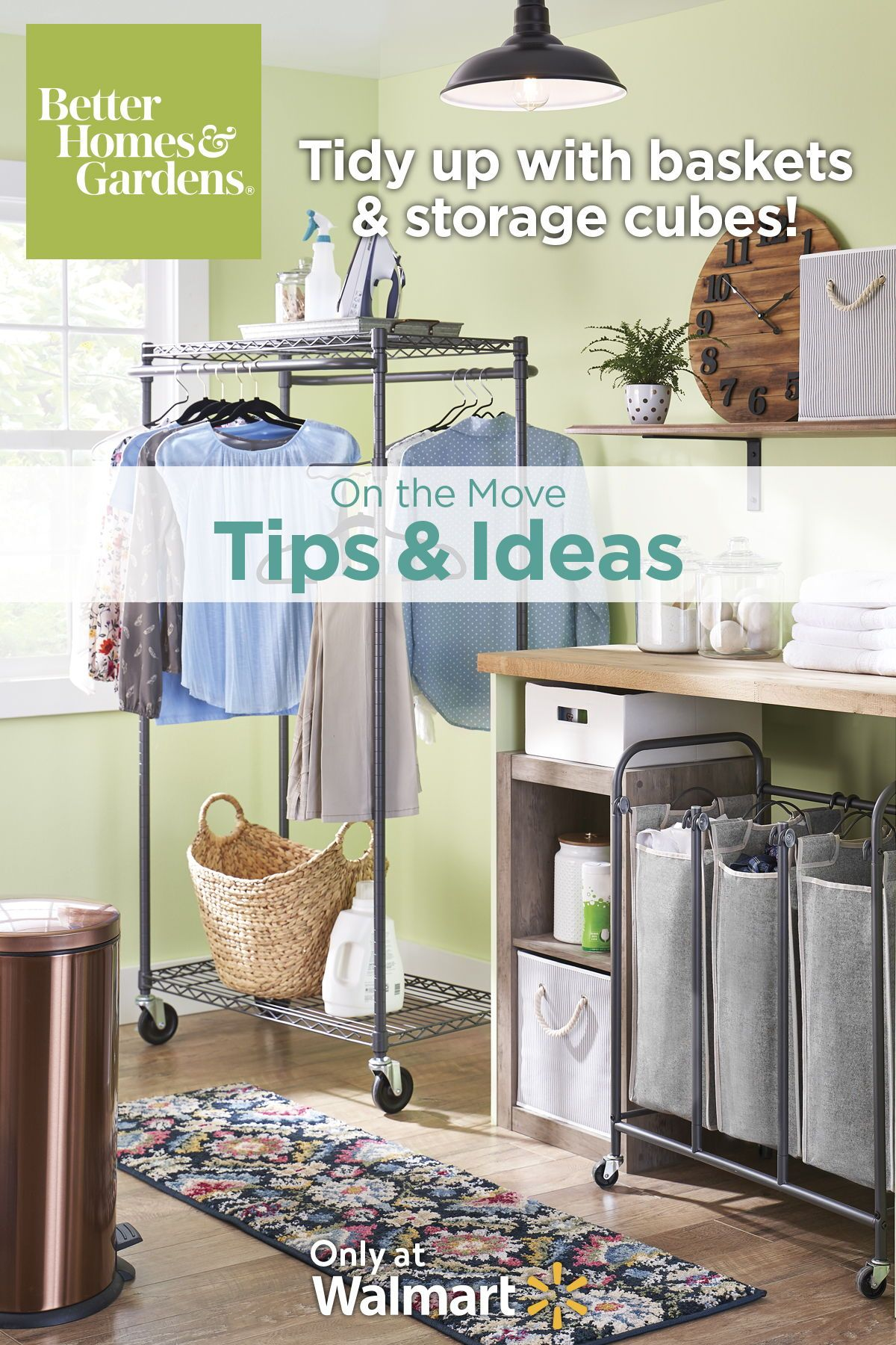 Tidy Up Your Laundry Room With Baskets And Storage Cubes Laundry