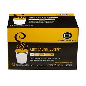 Cafe Carmel - Singlicious® Serving Cafe Carmel® Cream Flavored Coffee is rich and smooth with the flavors of Buttery Caramel and Cream. The taste is reminiscent of our most popular specialty coffee drink.  Our best selling flavored coffee is now available in single servings for owners of Keurig® machines.  12-Singlicious® Servings come in each box.