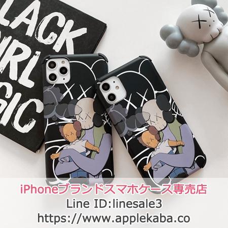 KAWS アイフォン11プロマックス/iPhone11proスマホケース カウズ ユニーク かわいい アニメ風
