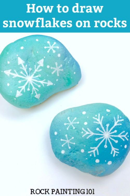 Photo of How to draw a snowflake to make a fun winter painted rock
