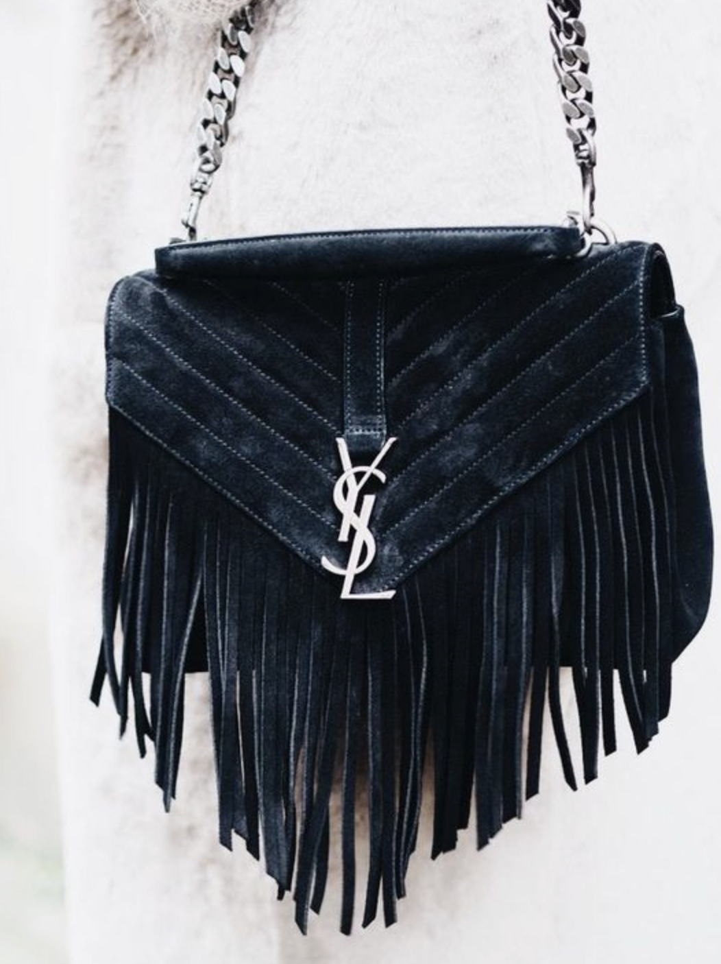 ysl suede fringe college bag   shoes + bags   Pinterest   Bags, Ysl ... b881d68d31