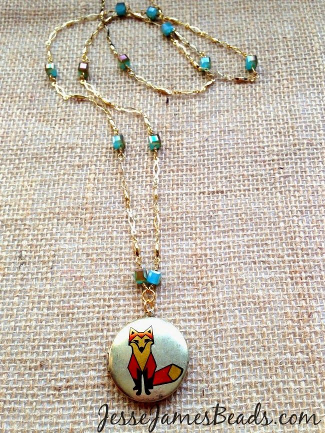 Very simple and cute idea using JJB's Beaded Chain Reaction and a cute fox pendant by the awesome craft ninja, Candie Cooper!
