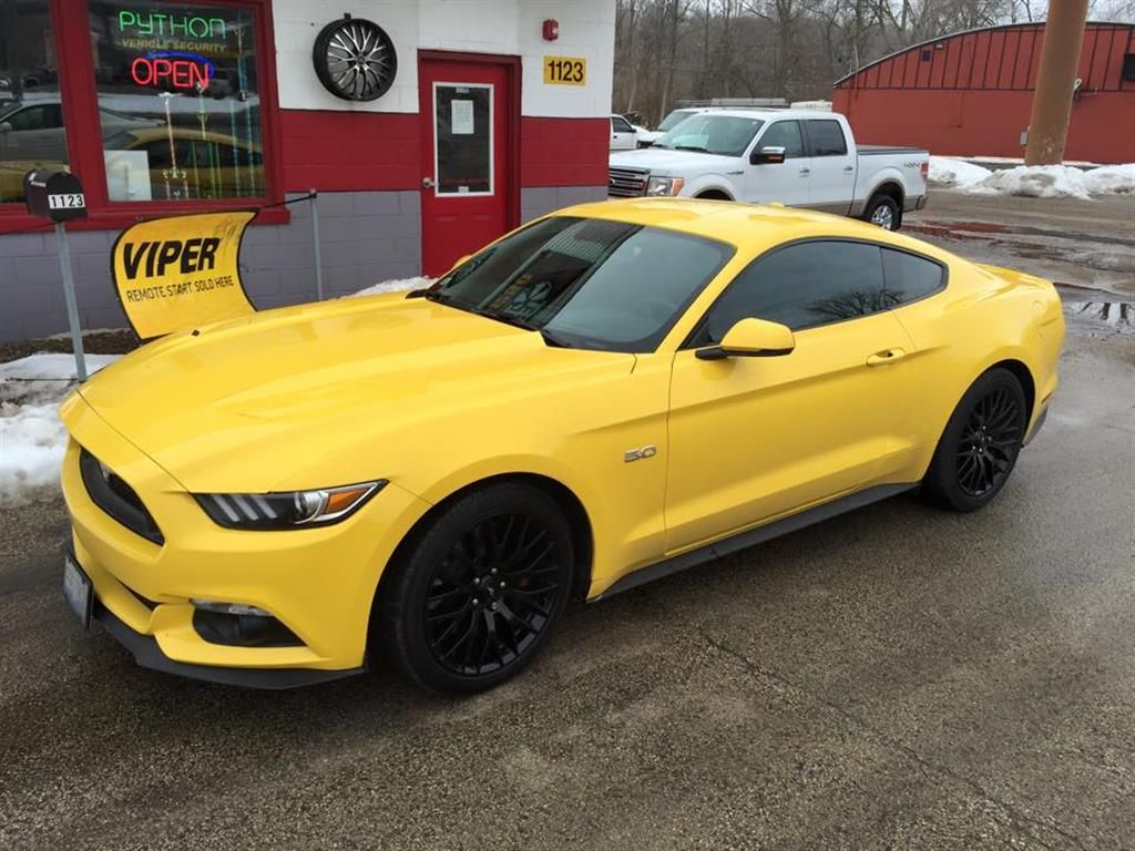 Yellow Ford Mustang By Street Legal Audio In Algonquin Il Click To Remote Starter View More Photos