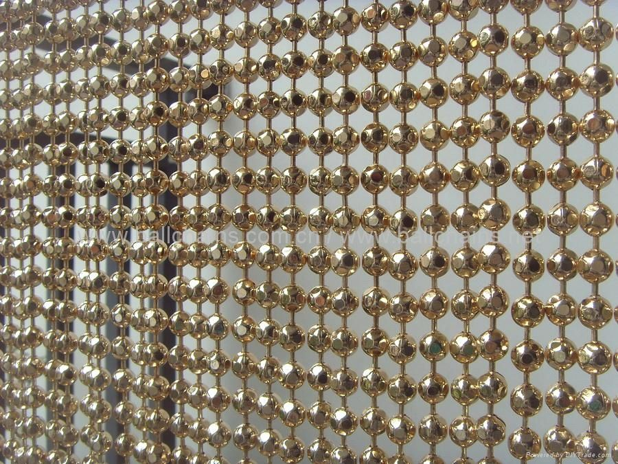 Champagne Gold Faceted Bead Chain Curtain Beaded Curtains