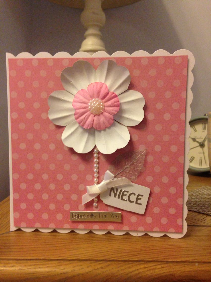 Niece Flower Handmade Pink Card My Handmade Cards Pinterest