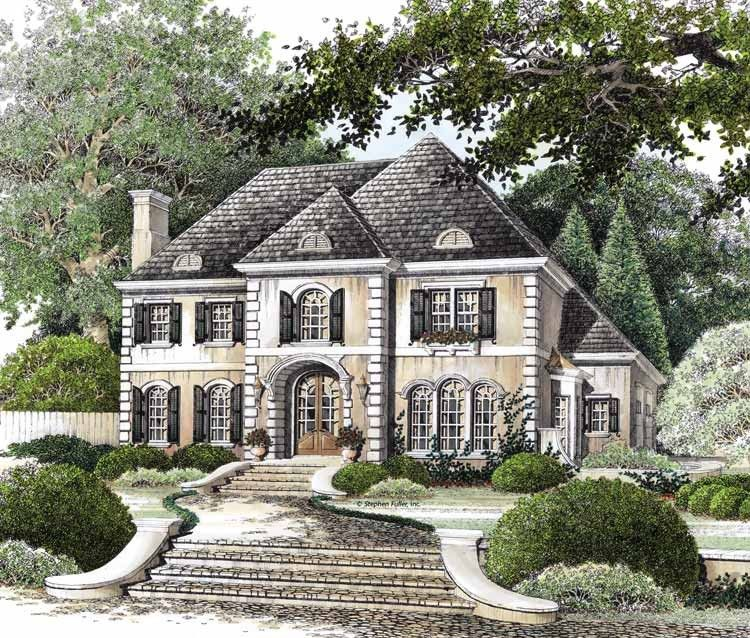 Eplans french country house plan elegantly european for Eplans house plans